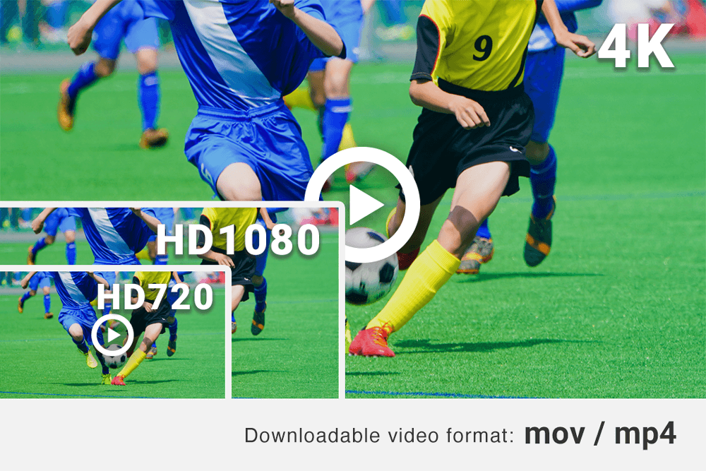 You can download 4K footages